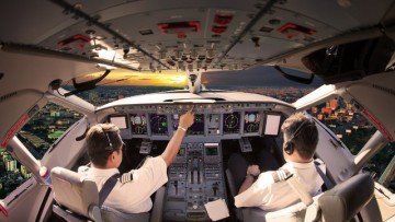 Cockpit Flugschule