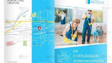 Muster Broschüre Reinigungunternehmen
