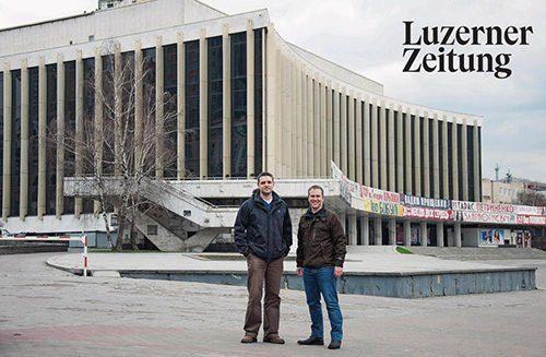 Palats Ukraina in Luzerner Zeitung (Philipp Stirnemann und Mauro Bonzanigo)