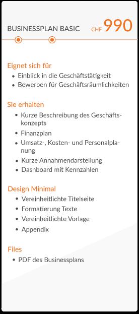 businessplan basic chf 990 mit beschreibung