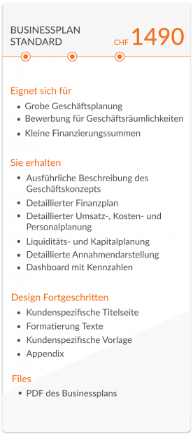 businessplan standard chf 1490 mit beschreibung