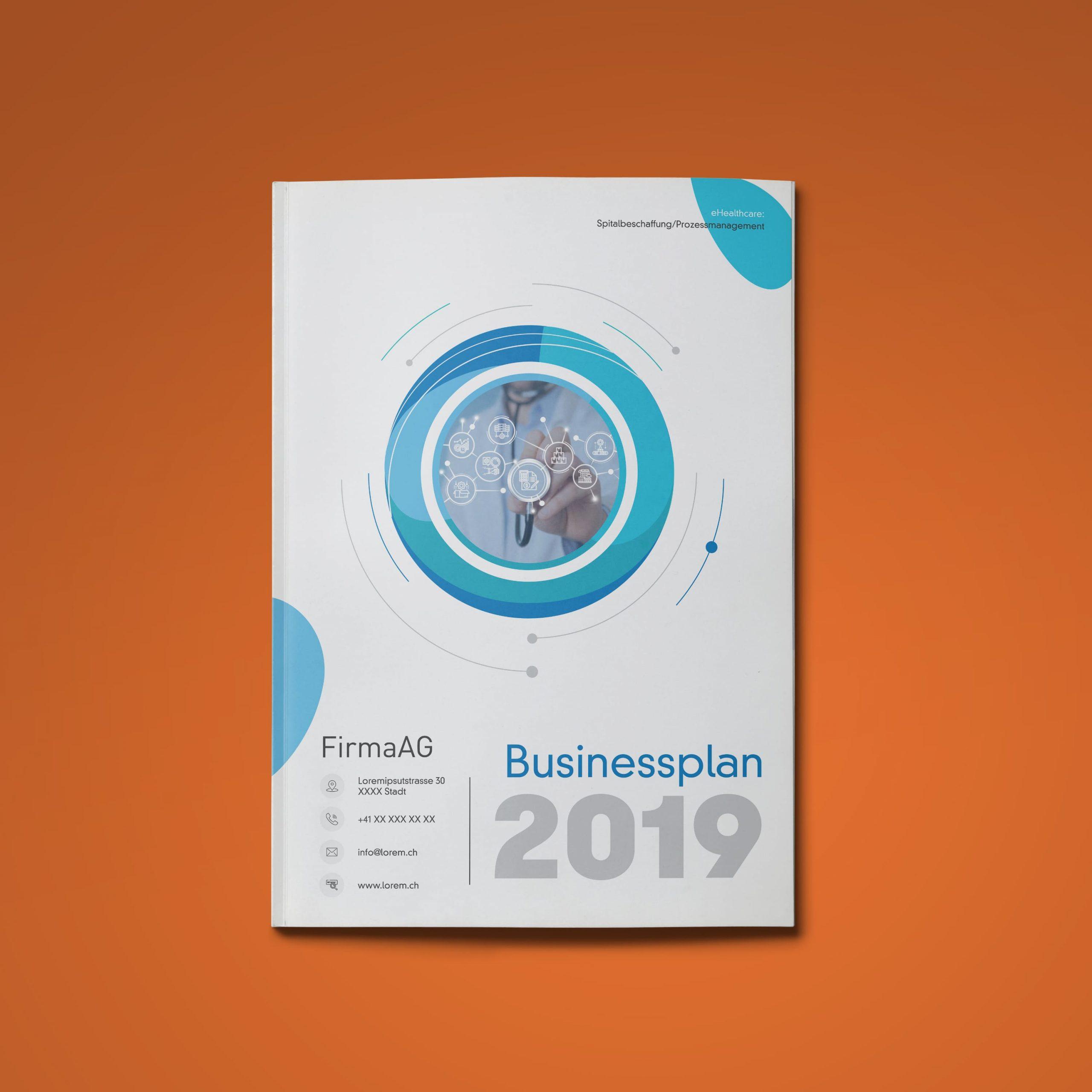 Businessplan Software für Spitäler Titel